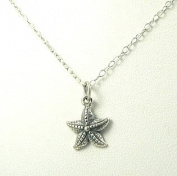 Small Starfish Sterling Silver Sea Star Charm Necklace Ocean Beach Theme Jewellery