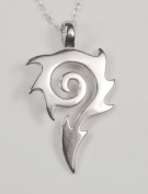 """A Wonderful Dragon's Tail """"Tat"""" Design in Sterling Silver"""