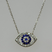 Silver & Cubic Zirconia Evil Eye Necklace