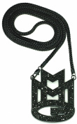 MMG Maybach Music Group Necklace New Iced Out Pendant With Black Colour Franco Style Chain Blk/Blk