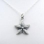 Starfish Sterling Silver Sea Star Charm Necklace Ocean Beach Theme Jewellery