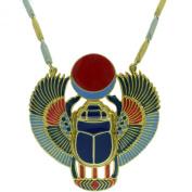 Egyptian Jewellery Scarab Beetle Pendant with Chain