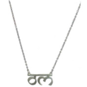 Silver Om Nameplate Necklace