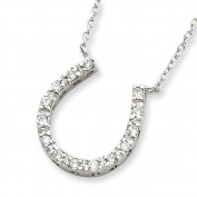 Sterling Silver CZ Horse Shoe Necklace