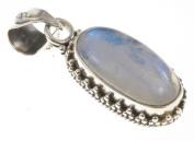 925 Sterling Silver RAINBOW MOONSTONE Pendant, 3.2cm , 6.03g