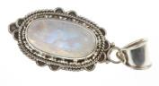 925 Sterling Silver RAINBOW MOONSTONE Pendant, 4.1cm , 6.8g