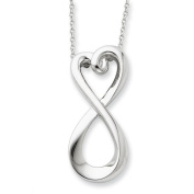 Sterling Silver Polished Infinite Love 45.7cm Necklace