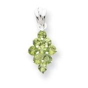 Sterling Silver Peridot Pendant - JewelryWeb