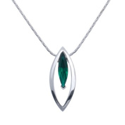 Annaleece Necklace - Emerald Marquis