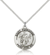 St. Peregrine Medal, Sterling Silver