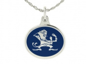 Notre Dame Fighting Irish SHAMROCK Charm Pendant. Solid Sterling Silver with Enamel
