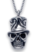 Stainless Steel Magician Skull Pendant on a 50.8cm Box Chain