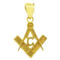 10K Yellow Gold Freemason Small Masonic Pendant 2.2cm