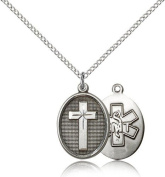 EMT Cross Pendant, Sterling Silver