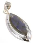 925 Sterling Silver NATURAL LABRADORITE Pendant, 5.4cm , 9.04g