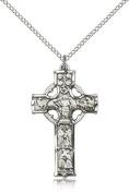 Celtic Cross Pendant, Sterling Silver