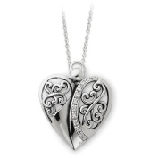 Sterling Silver Antiqued 45.7cm Angel of Love Necklace