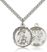 National Guard Guardian Angel Medal, Sterling Silver