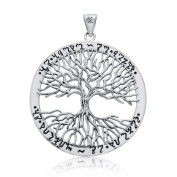 Bling Jewellery Wiccan Tree of Life 925 Sterling Silver Pendant
