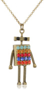"Lenora Dame ""Retro"" Retro Robot in Primary Pendant Necklace"