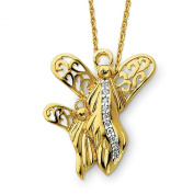Sterling Silver Gold-plated CZ 45.7cm Angel Necklace