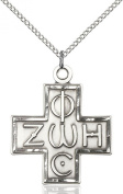 Light and Life Cross Pendant, Sterling Silver