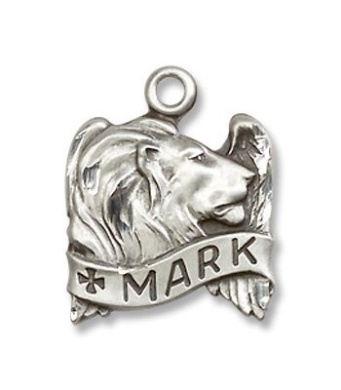 Sterling Silver St. Mark Medal Pendant with 45.7cm Sterling Silver Chain in Gift Box