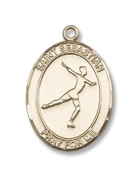 Gold Filled St. Sebastian/Figure Skating Pendant