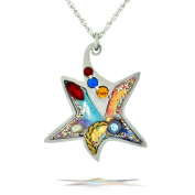 Colourful Star of David Necklace from the Artazia Collection #2301 JN