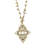 Long Chevron Style Pendant Necklace