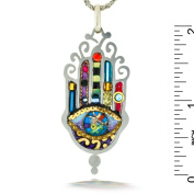 Large, Elegant Hamsa Necklace to Protect from the Evil Eye from the Artazia Collection #169 JN MN