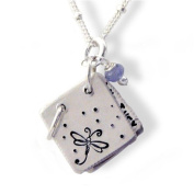 Sterling Silver Storybook Pendant Necklace with Inspiring Peter Pan Quote, 48.3cm , Handmade in the USA