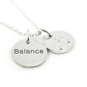 "Pendant necklace silver ""Balance""."