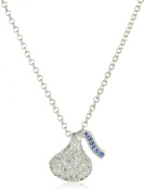 Hershey Jewellery Sterling Silver with CZ Small Flat Back Shaped Pendant