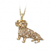 Best In Show Dog Lovers Dachshund Crystal Pendant Necklace by The Bradford Exchange