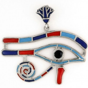 Egyptian Jewellery Silver Eye of Horus Stone Pendant