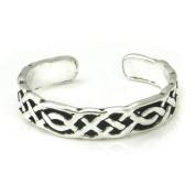 Sterling Silver Antique Celtic Knot Adjustable Toe Band Ring