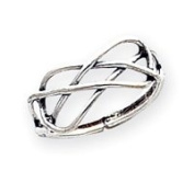 Sterling Silver Solid Toe Ring - JewelryWeb