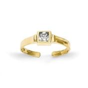 10k CZ Toe Ring