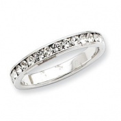 Sterling Silver CZ Eternity Band Ring - Size 8 - JewelryWeb