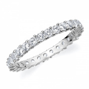 14K White Gold Shared-Prong Diamond Eternity Ring (1.0 cttw, H-I Colour, SI1-SI2 Clarity) SIZE 8