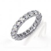 2.00 Carat (ctw) 14k White Gold Round Diamond Ladies Eternity Wedding Anniversary Stackable Ring Band