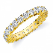 18K Yellow Gold Shared-Prong Diamond Eternity Ring (2.0 cttw, H-I Colour, SI1-SI2 Clarity) SIZE 5