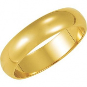 Elegant and . 02.50 MM Half Round Band in 14K Yellow Gold ( Size 9 ), 100% Satisfaction Guaranteed.