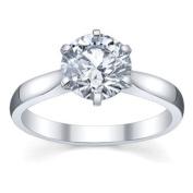IGI Certified 1.50 Carat (ctw) 14K White Gold Brilliant Round Diamond Ladies Bridal Engagement Solitaire Ring 1 1/2 CT