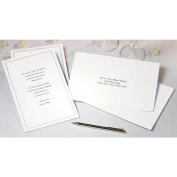 Wilton 1008-658 Single Border Invitation Kit 100-Pkg-White