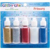 Glitter Glue 20mls 5/Pkg-Regular