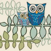 Dimensions Handmade Collection Owl Crewel Embroidery Kit 25cm x 25cm Stitched In Wool & Yarn