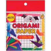 Alex Toys 340369 Origami Paper 70-Pkg-Assorted Sizes& Colors