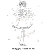 Stamping Bella EB206 Stamping Bella Unmounted Rubber Stamp-Uptown Girl Lucille Sends Her Love